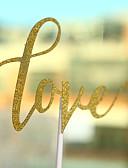 baratos Decorações de Bolo-Decorações de Bolo Tema Praia Tema Clássico Corações Papel de Cartão Aniversário com Laço 1 PPO