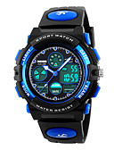 cheap Quartz Watches-SKMEI Sport Watch Alarm / Calendar / date / day / Chronograph PU Band Fashion Black / Water Resistant / Water Proof / Dual Time Zones / Stopwatch / Noctilucent / Two Years