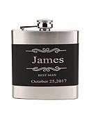 olcso Esküvői ajándékok-Rozsdamentes acél Flaska Menyasszony Vőlegény Koszorúslány Násznagy Pár Szülők Esküvő Születésnap Szerető