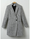 cheap Women's Coats & Trench Coats-Women's Going out Chic & Modern Coat - Solid Color, Modern Style / Winter