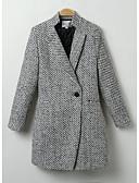 ieftine Paltoane Trench Femei-Pentru femei Ieșire Șic & Modern Iarnă Regular Palton, Mată Manșon Lung Poliester Stil modern Negru L / XL / XXL