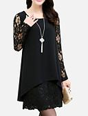 baratos Vestidos Femininos-Mulheres Tamanhos Grandes Calças - Sólido Preto Preto / Mini