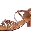 abordables Biquinis y Bañadores para Mujer-Mujer Zapatillas de Baile Sintético Tacones Alto Tacón Personalizado Personalizables Zapatos de baile Marrón / Azul / Interior
