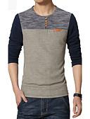 abordables Camisetas y Tops de Hombre-Hombre Deportes Tallas Grandes Camiseta Bloques / Retazos / Manga Larga