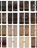 abordables Ropa Sexy de Mujer-Recto Clásico Pelo sintético 22 pulgadas La extensión del pelo Con Clip Mujer Diario