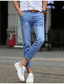 abordables Pantalones y Shorts de Hombre-Hombre Algodón Delgado Vaqueros Pantalones - Un Color / Fin de semana