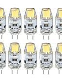رخيصةأون زينة الكيك-3 W 300-350 lm G4 أضواء LED Bi Pin T 1 الخرز LED COB ضد الماء / ديكور أبيض دافئ / أبيض كول / أبيض طبيعي 12 V / 10 قطع / بنفايات / CE