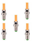 preiswerte Überbekleidung-YWXLIGHT® 5 Stück 400-500lm E14 LED Doppel-Pin Leuchten T 1 LED-Perlen COB Abblendbar Dekorativ Warmes Weiß Kühles Weiß 110-130V 220-240V