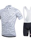 hesapli Kadın Gecelikleri-Fastcute Erkek Kadın's Kısa Kollu Askılı Şortlu Bisiklet Forması Bisiklet Bisiklet Şortu Önlüğü Tayt Forma Giysi Setleri, Hızlı Kuruma,