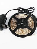 baratos Acessórios de Moda-5m Conjuntos de Luzes 300 LEDs 3528 SMD Branco Quente / Branco Cortável / Impermeável / Conetável 100-240 V / IP65 / Auto-Adesivo