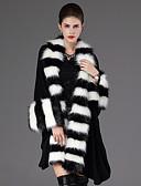 cheap Women's Coats & Trench Coats-Women's Going out Vintage Fox Fur Vest - Solid Colored, Fur Trim