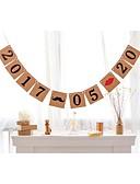 abordables Bufandas de Moda-Boda / Aniversario / Cumpleaños / Pedida / San Valentín Papel perlado Decoraciones de la boda Tema Playa / Tema Jardín / Tema Asiático /