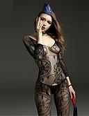 cheap Women's Nightwear-Women's Plus Size Teddy Ultra Sexy Gartered Lingerie Nightwear - Mesh, Jacquard