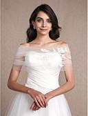cheap Wedding Wraps-Sleeveless Tulle Wedding Party Evening Women's Wrap With Appliques Shrugs