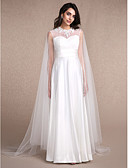 cheap Wedding Wraps-Sleeveless Tulle Wedding / Party Evening Women's Wrap With Appliques Capes