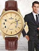 cheap Quartz Watches-Men's Wrist Watch Digital Japanese Quartz 30 m Water Resistant / Water Proof Calendar / date / day Leather Band Analog Charm Black / Brown - Gold / Black Brown / Gold White / Brown Two Years Battery