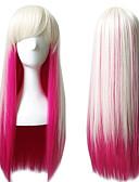 billige Leggings-Syntetiske parykker / Kostumeparykker Lige Pink Syntetisk hår Pink Paryk Dame Lang