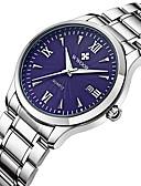baratos Relógio Elegante-Homens Relógio de Pulso Quartzo Quartzo Japonês 30 m Impermeável Calendário Noctilucente Aço Inoxidável Banda Analógico Casual Relógio Elegante Prata - Branco Preto Azul