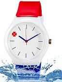 abordables Relojes de Moda-Reloj de Pulsera Cool / Colorido Silicona Banda Hojas / Caramelo / Casual Azul / Rojo
