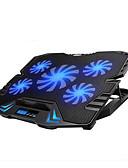 preiswerte Oberteile-verstellbare LED-Bildschirm intelligente Steuerung Laptop Cooling Pad mit 5 Fans