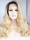 voordelige Damesjurken-Pruik Lace Front Synthetisch Haar BodyGolf Synthetisch haar Ombre-haar / Donkere wortels / Natuurlijke haarlijn Blond Pruik Dames Lang Kanten Voorkant