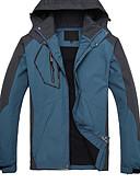 ieftine Maieu & Tricouri Bărbați-Bărbați Μπουφάν πεζοπορίας în aer liber Toamnă Iarnă Rezistent la Vânt Impermeabil Keep Warm Îmbrăcăminte de Sport  Îmbrăcăminte 100% Poliester Topuri Camping & Drumeții Alpinism / Respirabil