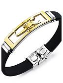 baratos Relógios Digitais-Homens Pulseira ID - Personalizada, Vintage, Punk Pulseiras Prata / Dourado Para Presentes de Natal Presente Diário