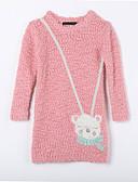 tanie Sukienki dla dziewczynek-Sweter /  sweter rozpinany Bawełna Codzienny Jendolity kolor Jesień Różowy