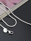 cheap Cocktail Dresses-Women's Chain Necklace - Sterling Silver Ladies, Classic, Fashion Silver Necklace Jewelry For Party, Special Occasion, Birthday, Gift, Casual