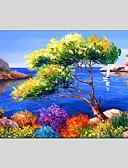 billige Brudesko-Trykk Stretched Canvas - Landskap Klassisk / Tradisjonell / Middelhavet