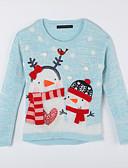 tanie Sukienki dla dziewczynek-Sweter /  sweter rozpinany Bawełna Codzienny Jesień Light Blue