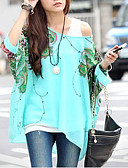 cheap Print Dresses-Women's Boho Batwing Sleeve Oversized Blouse - Animal Butterfly, Print / Summer / Sexy