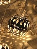 baratos Corpetes-2,5 m Cordões de Luzes 20 LEDs LED Dip Branco Quente Controlo Remoto / Regulável / Impermeável 5 V / Conetável / Cores Variáveis / IP44