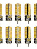 billige Hatter til damer-10pcs 260 lm G4 LED-lamper med G-sokkel T 72 LED perler SMD 2835 Dekorativ Varm hvit / Kjølig hvit 220-240 V / 12 V / 10 stk. / RoHs