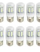 billige Hatter til damer-10pcs 2 W 280-350 lm E26 / E27 LED-kornpærer T 27 LED perler SMD 5730 Dekorativ Varm hvit / Kjølig hvit 85-265 V / 9-30 V / 10 stk. / RoHs