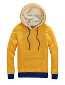 preiswerte Herren Pullover-Herrn Einfarbig Alltag Ausgehen Aktiv Kapuzenshirt Standard Langarm Winter Frühling Baumwolle