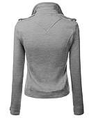 baratos Blazeres & Jaquetas Femininas-Mulheres Tamanhos Grandes Jaqueta Sólido / Primavera / Outono