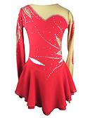 baratos Vestidos de Patinação no Gelo-Vestidos para Patinação Artística Mulheres / Para Meninas Patinação no Gelo Vestidos Vermelho Pedrarias Elasticidade Alta Roupas para