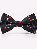 cheap Men's Ties & Bow Ties-Men's Party Work Basic Polyester Bow Tie Print