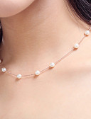 cheap Prom Dresses-Women's Pearl Choker Necklace / Strands Necklace / Pearl Necklace - Pearl, Imitation Pearl Personalized, Fashion White Necklace For Wedding, Party, Daily