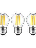 abordables Sombreros de  Moda-3pcs 5W 550lm E26 / E27 Bombillas de Filamento LED G45 6 Cuentas LED COB Blanco Cálido 220-240V