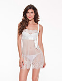 cheap Women's Lingerie-Women's Lace Sexy Babydoll & Slips / Ultra Sexy / Suits Nightwear Jacquard