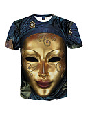 billige T-skjorter og singleter til herrer-Rund hals T-skjorte Herre Trykt mønster Aktiv Bohem Sport Strand