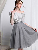 cheap Women's Dresses-Women's Going out Vintage A Line / Swing Skirts - Solid Colored Layered / Mesh