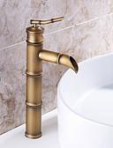 billige Brudepigekjoler-Håndvasken vandhane - Forskyl / Regnbruser / Udbredt Antik Kobber Centersat Enkelt håndtere to Huller