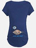 billige Toppe-T-skjorte Dame-Ensfarget Søtt