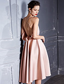 tanie Suknie i sukienki damskie-Damskie Swing Sukienka - Solidne kolory Pasek Do kolan
