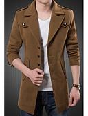 رخيصةأون ملابس داخلية وجوارب للرجال-للرجال معطف سادة ضعيف / كم طويل