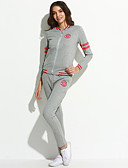 abordables Ropa de Calle de Mujer-Mujer Tallas Grandes Activo Chic de Calle Activewear Un Color