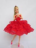 abordables Sombreros de mujer-Fiesta/Noche Vestidos por Muñeca Barbie  Tela de Encaje Satín Vestido por Chica de muñeca de juguete